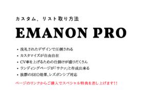 Emanon Pro(エマノンプロ)のカスタマイズ、リスト取り方法と豪華特典